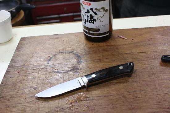 使い終わったナイフ