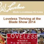 Bob Loveless Knives のニュースレターでナイフ小僧が紹介された!