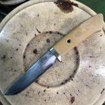 剣鉈をナイフにカスタマイズ!