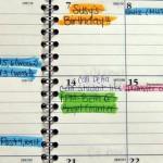 ナイフショーカレンダーを作りました