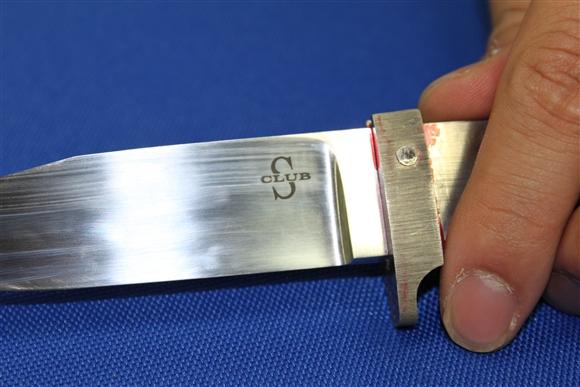ナイフ小僧のブログ-ナイフにマーキング4