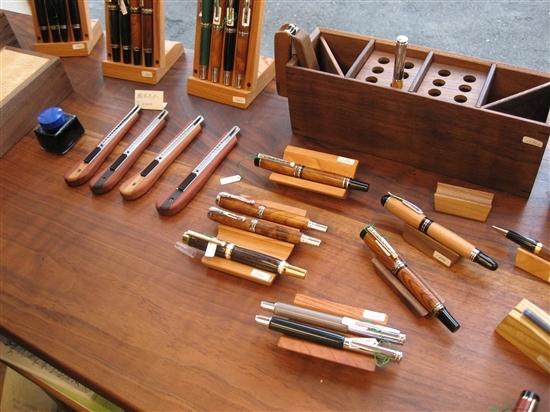 ナイフ小僧のブログ-エボナイト展示 木工