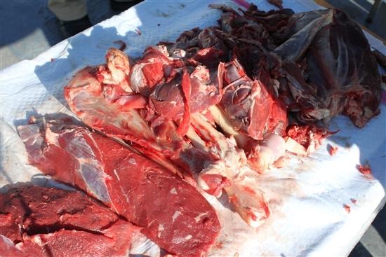 ナイフ小僧のブログ-鹿肉捌く2
