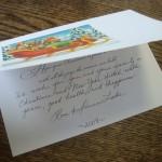 ロンレイクからクリスマスカードが来た